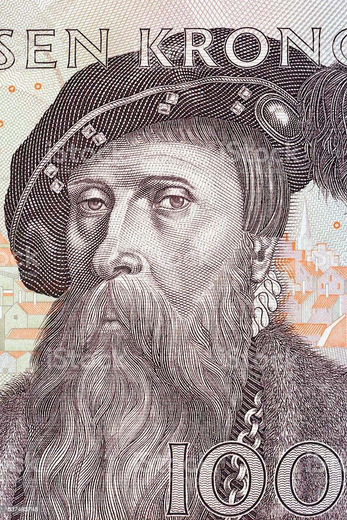 Gustav I Vasa king of Sweden, portrait stock photo