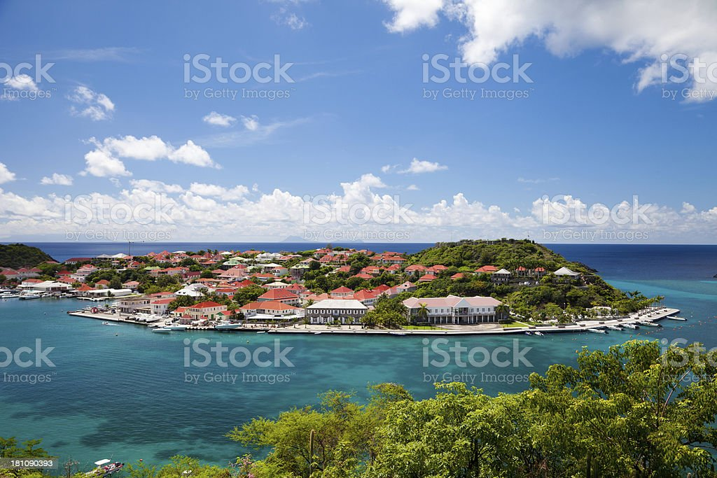 Gustavia Harbour, St. Barts, French West Indies stock photo