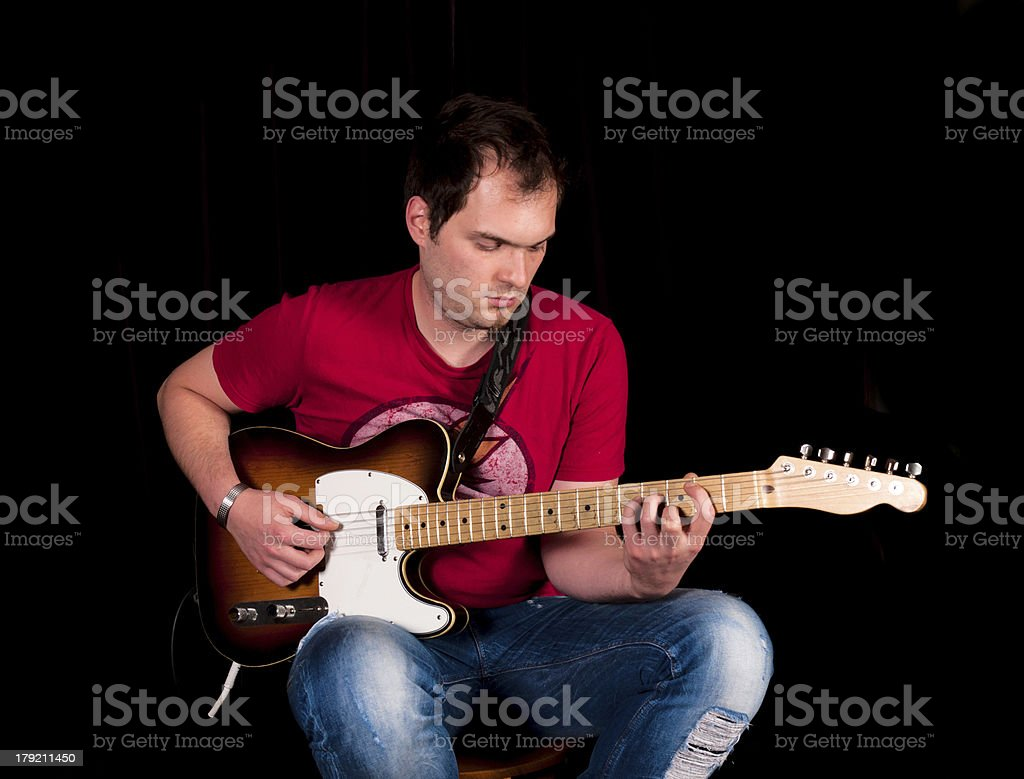 Gutar playing royalty-free stock photo