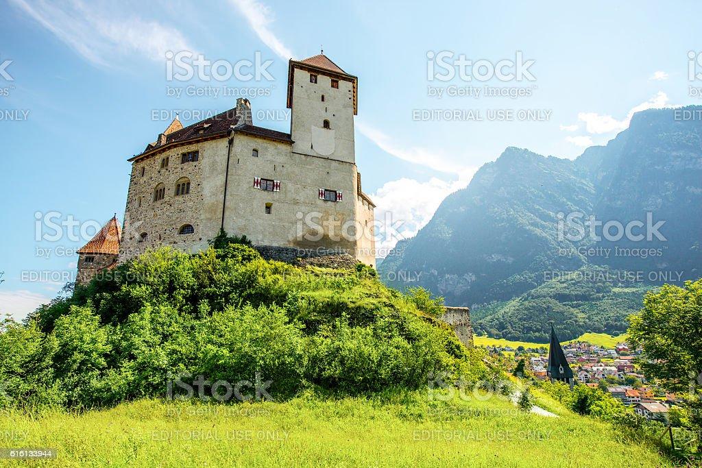 Gutenberg castle in Liechtenstein stock photo