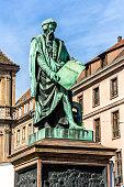 Gutenberg monument in Strasbourg