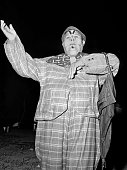 Gutierrez Show clown at night 1947