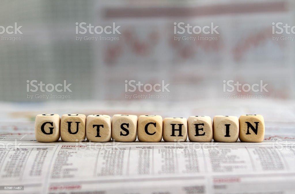 Gutschein stock photo