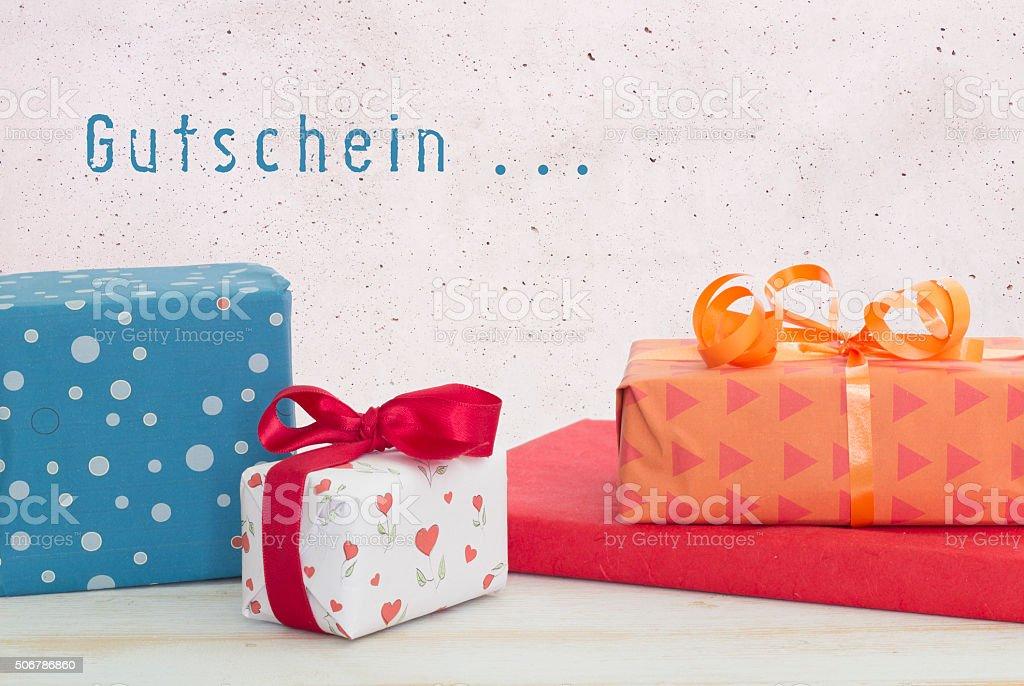 Gutschein - voucher in german