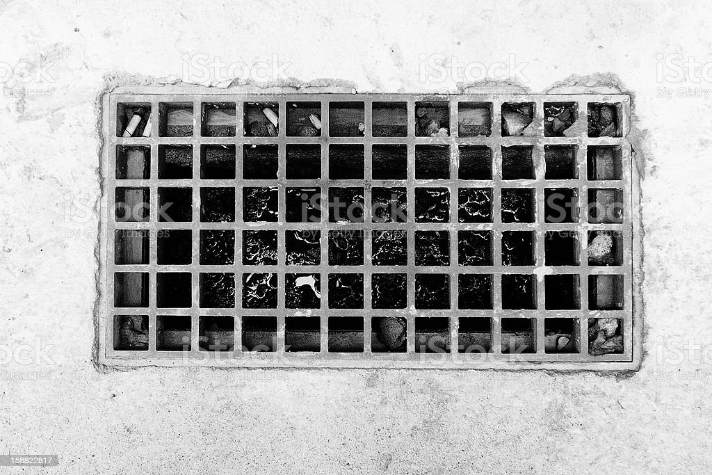 gutter and lattice royalty-free stock photo