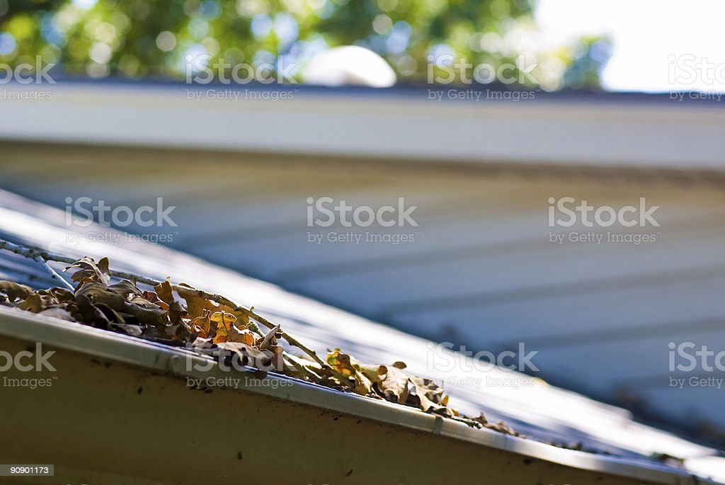 Gutters royalty-free stock photo