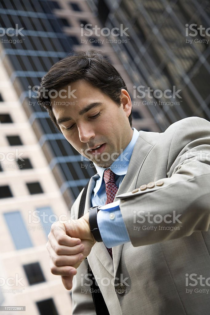 Guy Checking the Time royalty-free stock photo