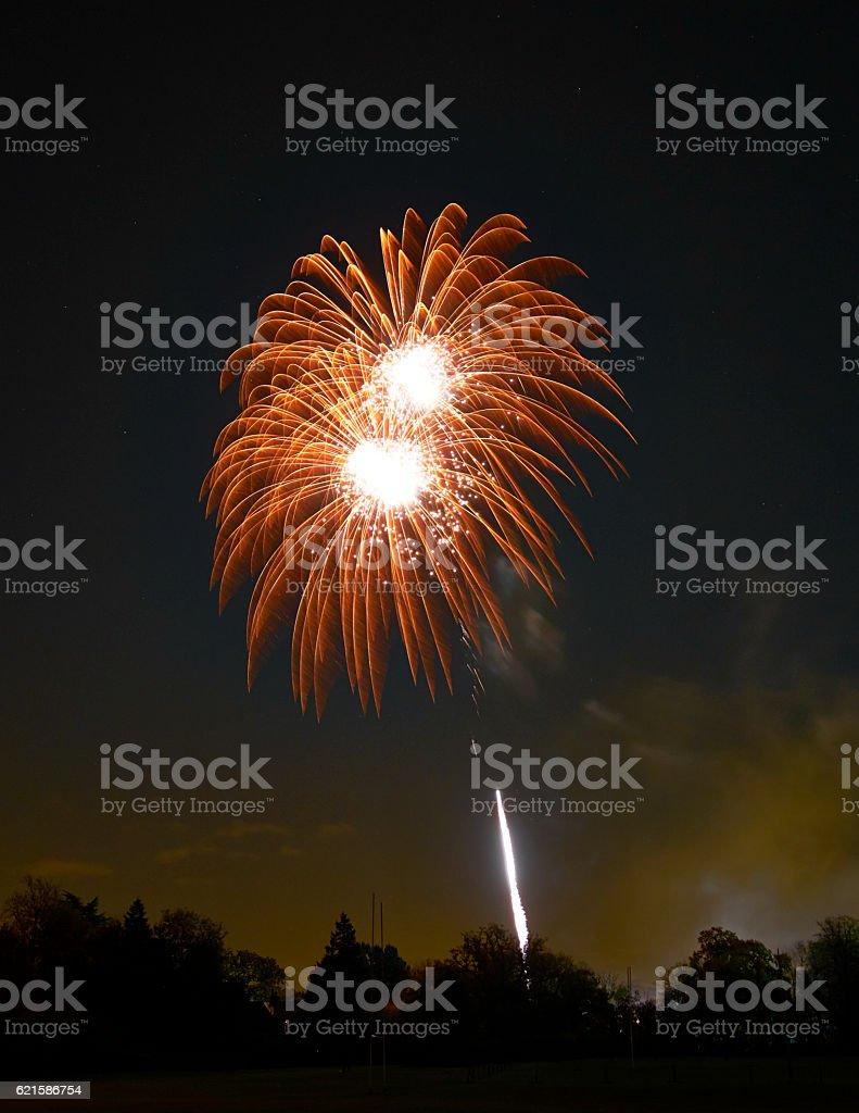 Guy Fawkes Night Fireworks stock photo