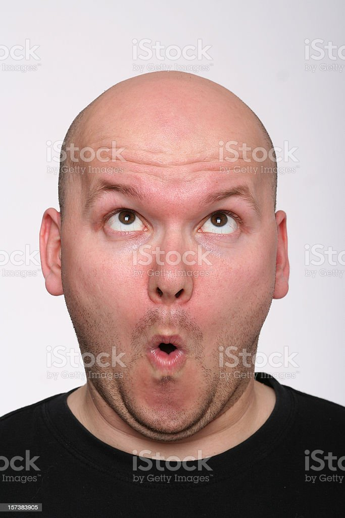 Guy from crooked the face royalty-free stock photo