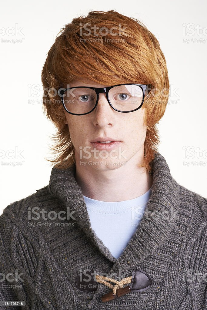 Guy in eyeglasses royalty-free stock photo