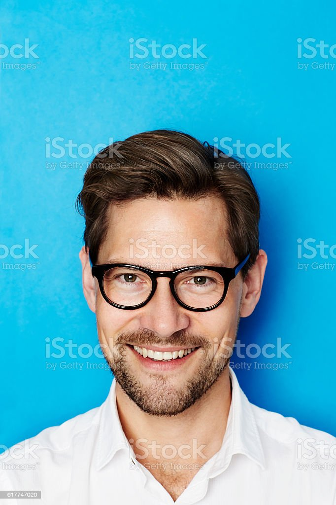 Guy in glasses stock photo