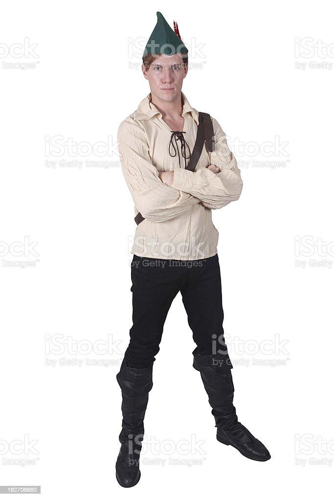 Guy in Robin Hood costume royalty-free stock photo