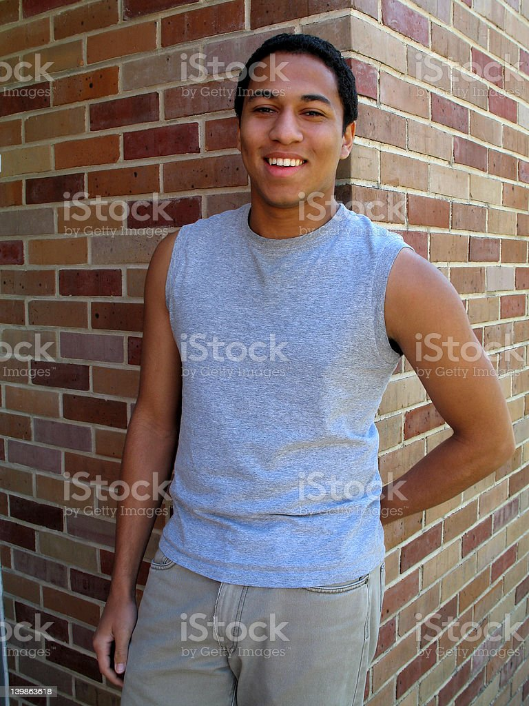 Guy in T-Shirt royalty-free stock photo