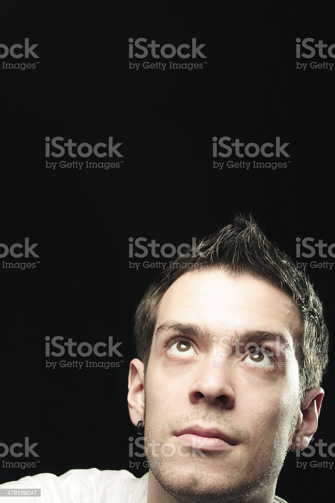 Guy Looking Up royalty-free stock photo
