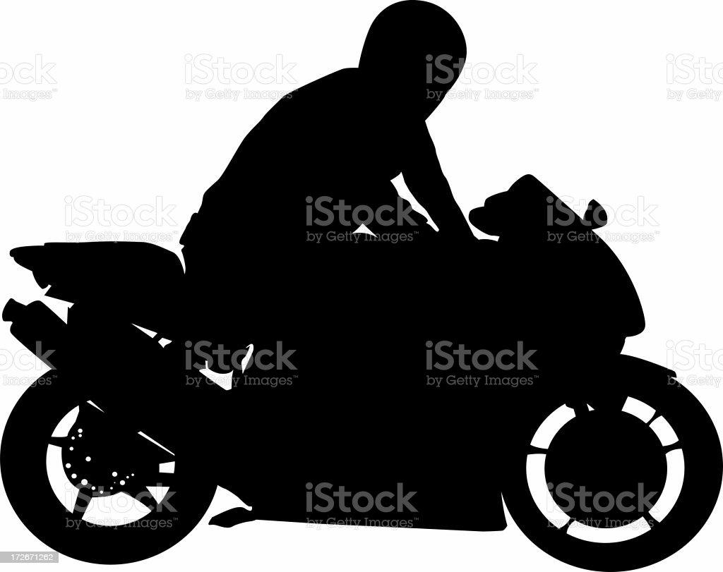 Guy on bike stock photo