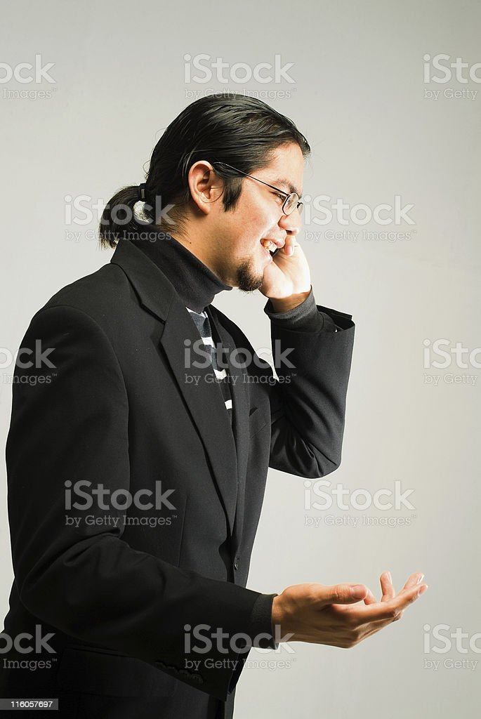 Guy on cell phone royalty-free stock photo