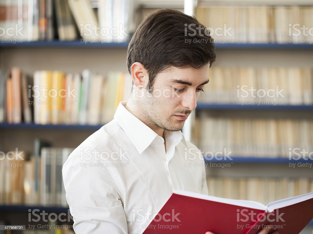 Guy reading a book royalty-free stock photo