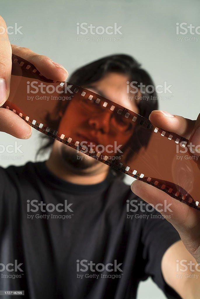 Guy trough film royalty-free stock photo