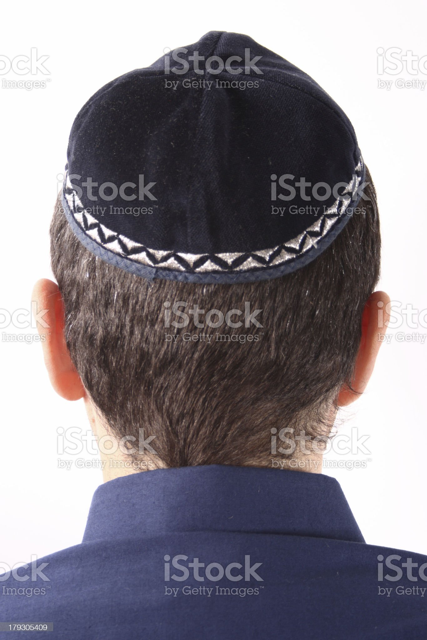 Guy wearing a kippah royalty-free stock photo