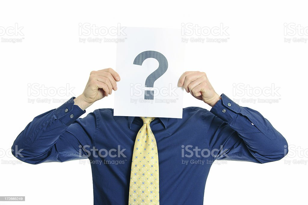 Guy with a symbol series stock photo