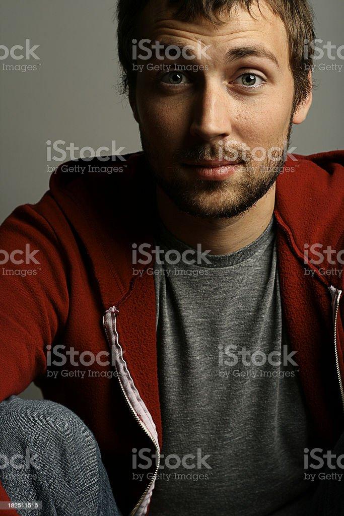 guy with beard royalty-free stock photo