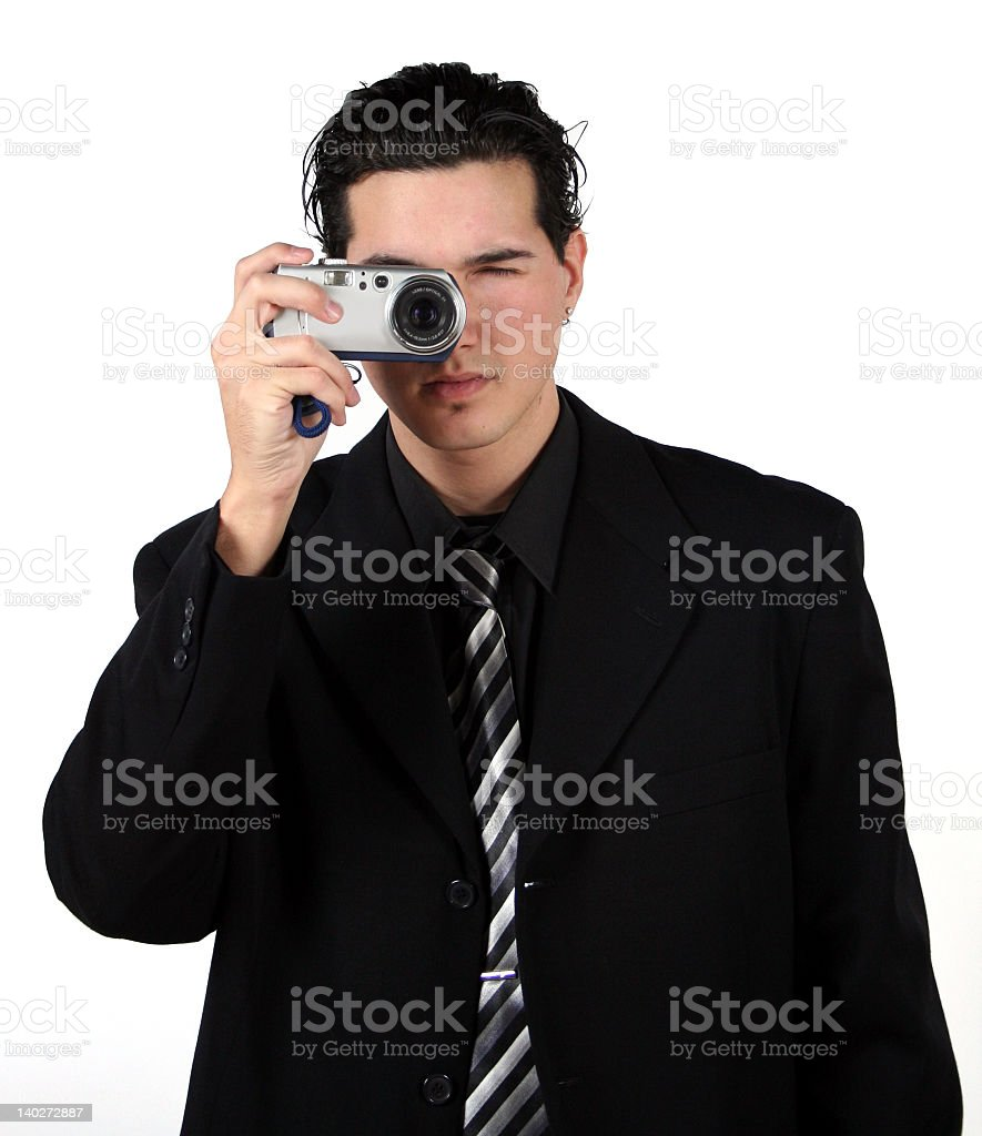 guy with camera royalty-free stock photo