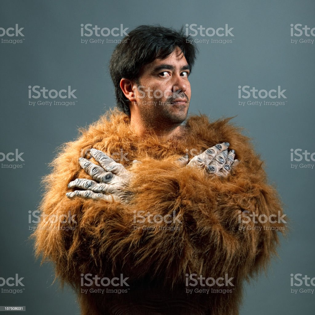 guy with gorilla custome royalty-free stock photo