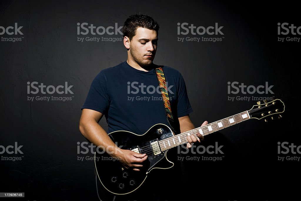 Mann mit Gitarre Lizenzfreies stock-foto