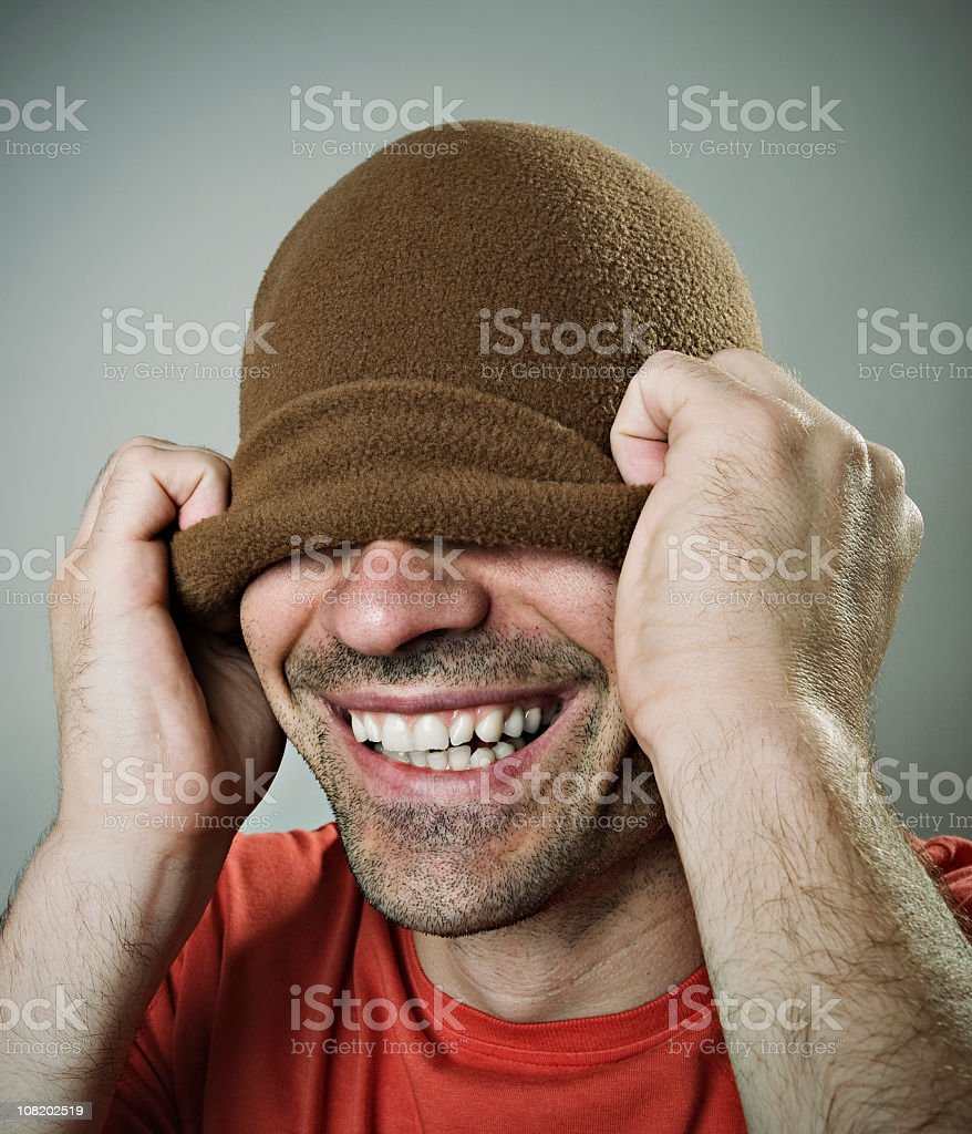Guy with hat royalty-free stock photo