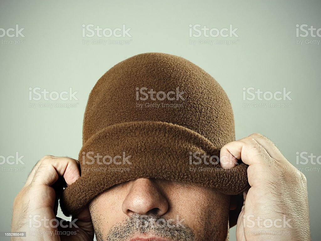 Guy with hat stock photo