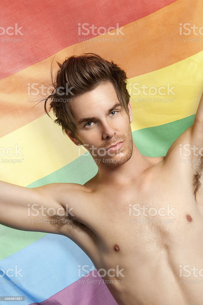 Guy With Pride royalty-free stock photo