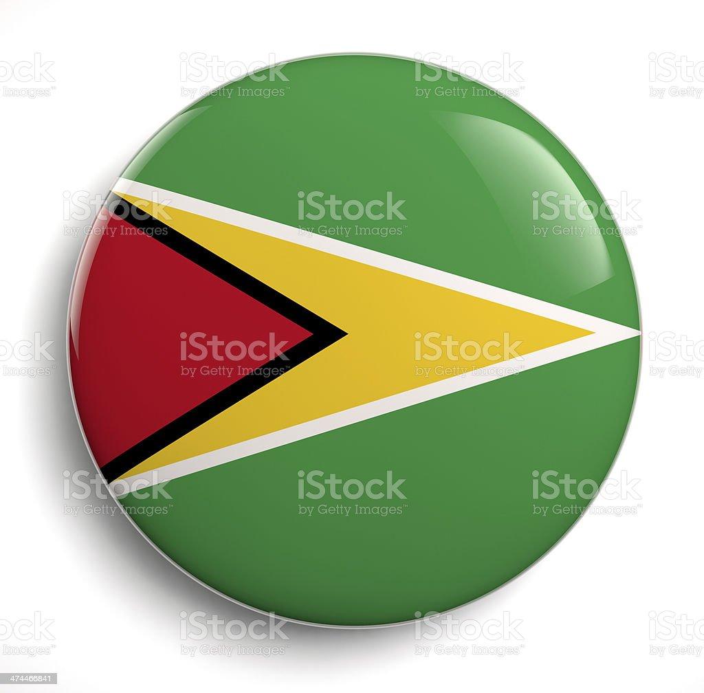 Guyana flag royalty-free stock photo