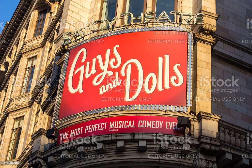 Guys and Dolls at the Savoy Theatre, London stock photo