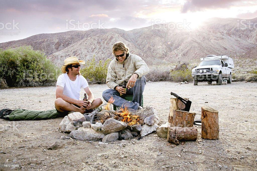 Guys camping trip royalty-free stock photo