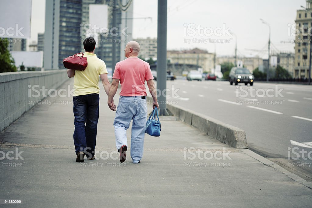 guys in the city royalty-free stock photo