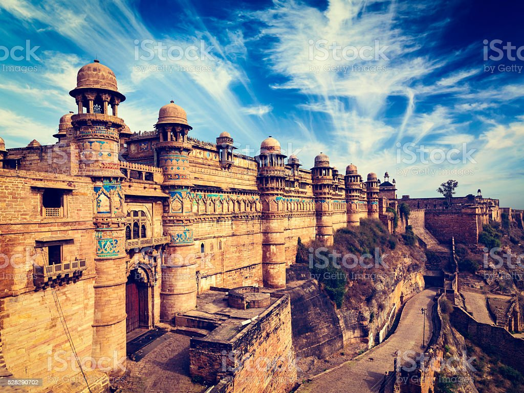 Gwalior fort, India stock photo