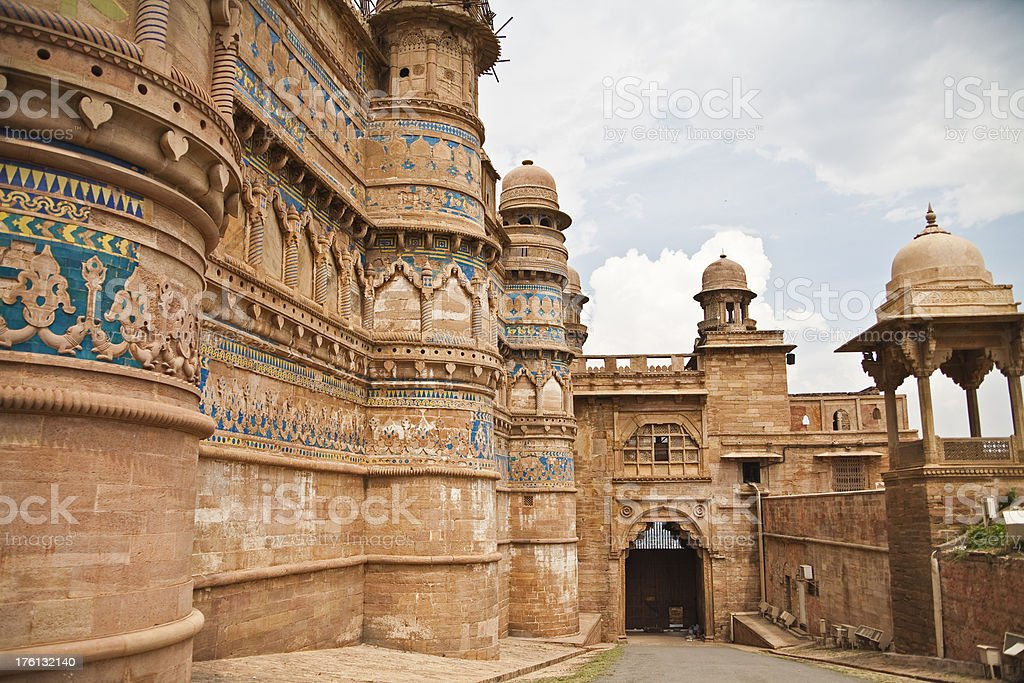 Gwalior Fort stock photo