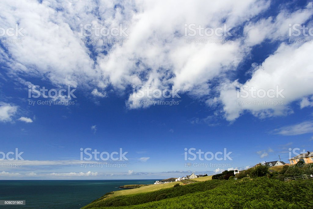 Gwbert-on-Sea in Ceredigion, Wales stock photo