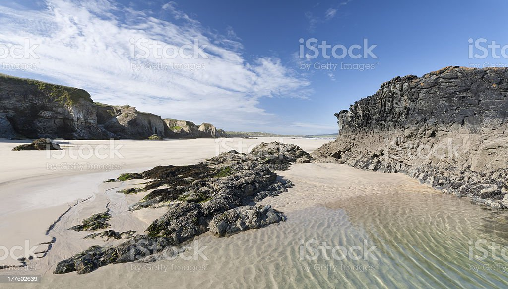 Gwithian Beach - Cornwall, England stock photo
