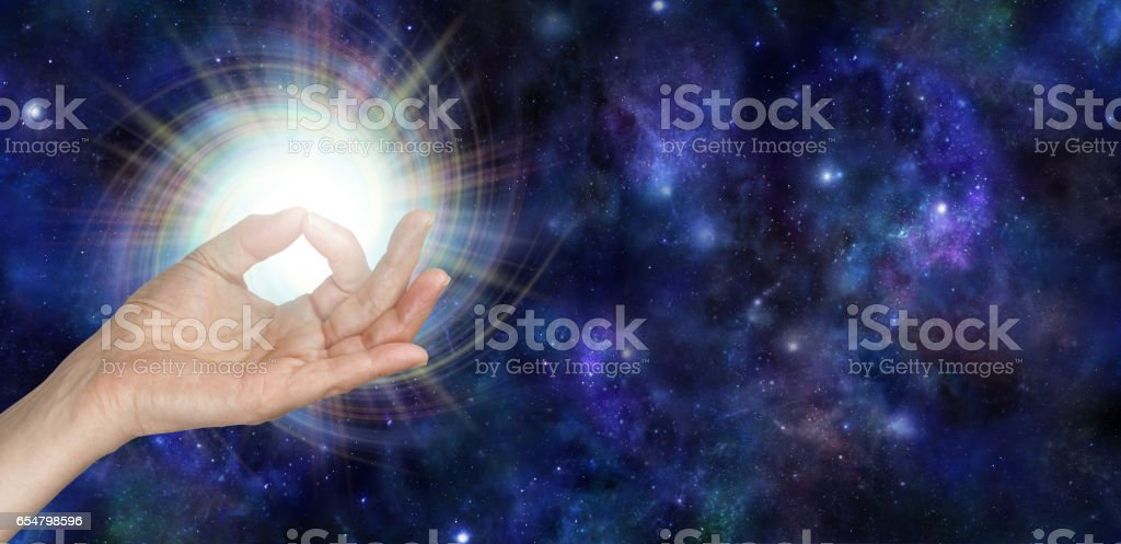 Gyan Mudra and the Spark of Life stock photo