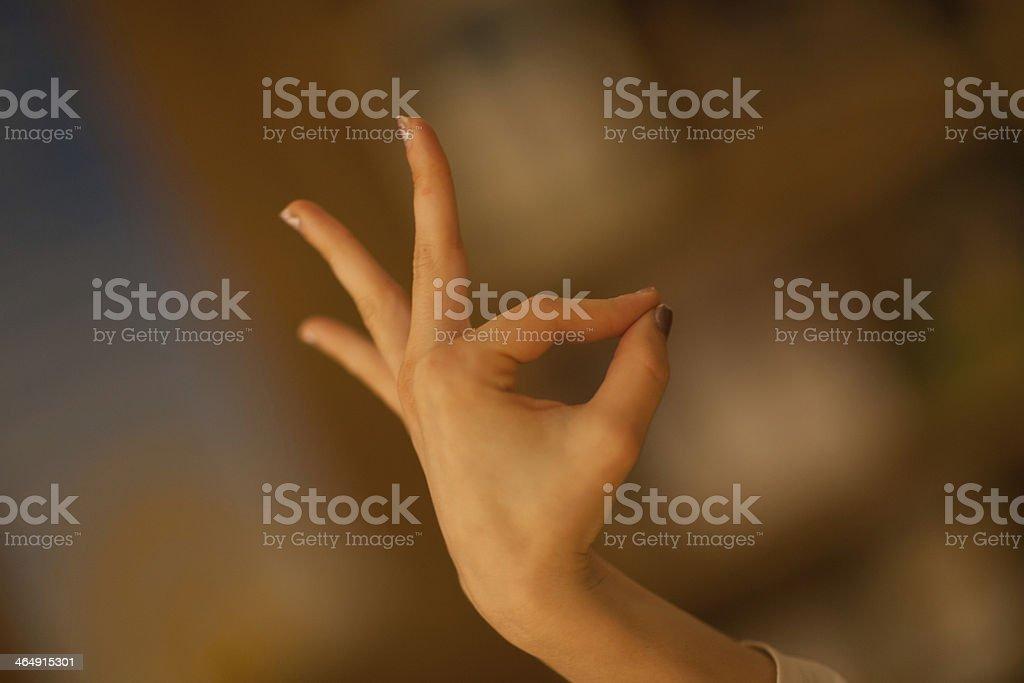 Gyan Mudra Yoga Pose royalty-free stock photo