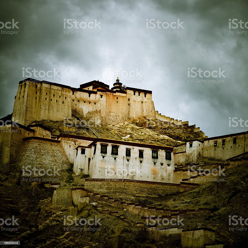 Gyangze Castle stock photo