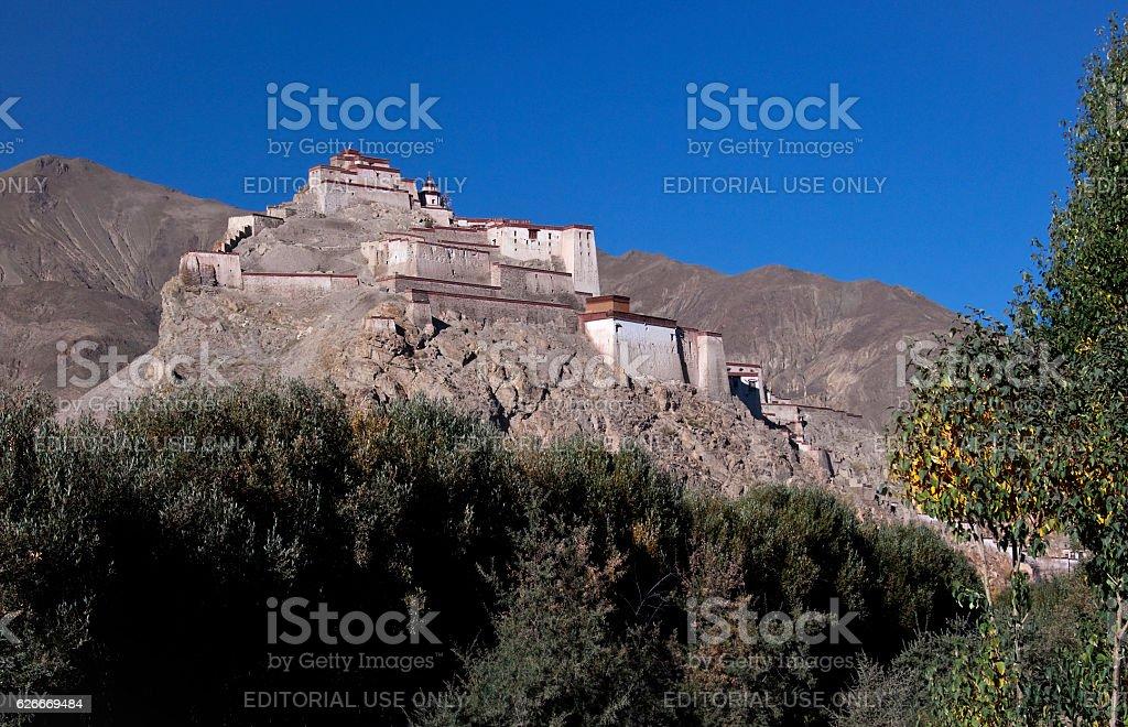 Gyantse Fortress in Tibet stock photo