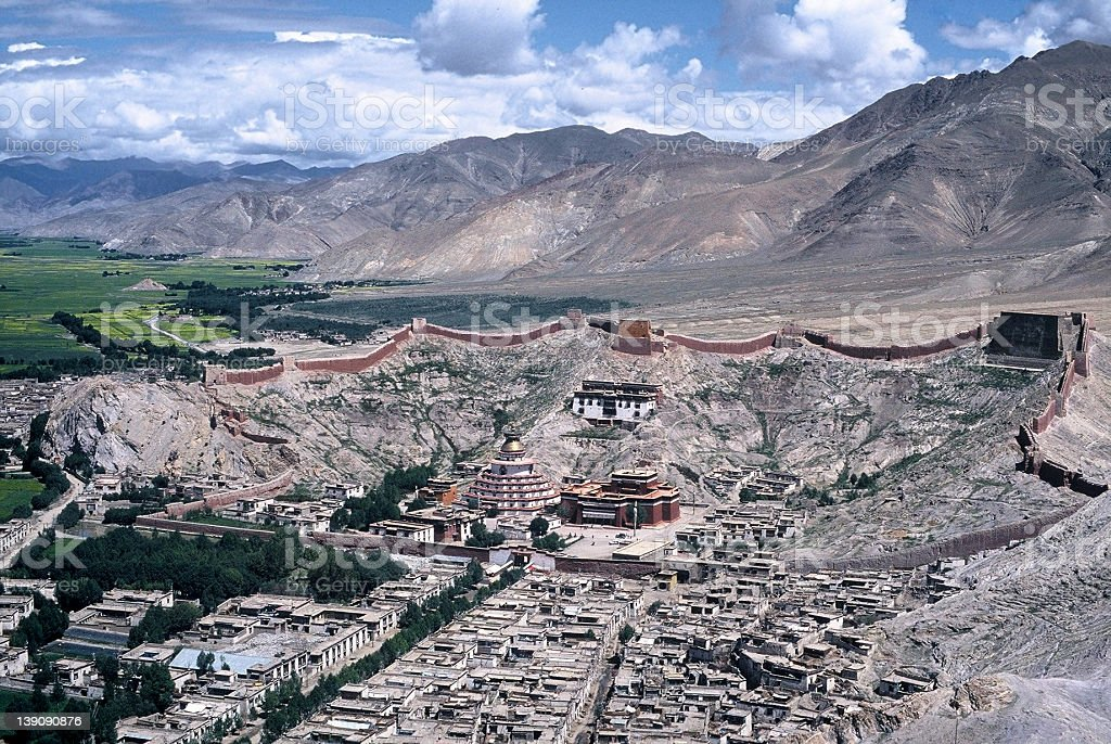 Gyantse Kumbum - Tibet royalty-free stock photo