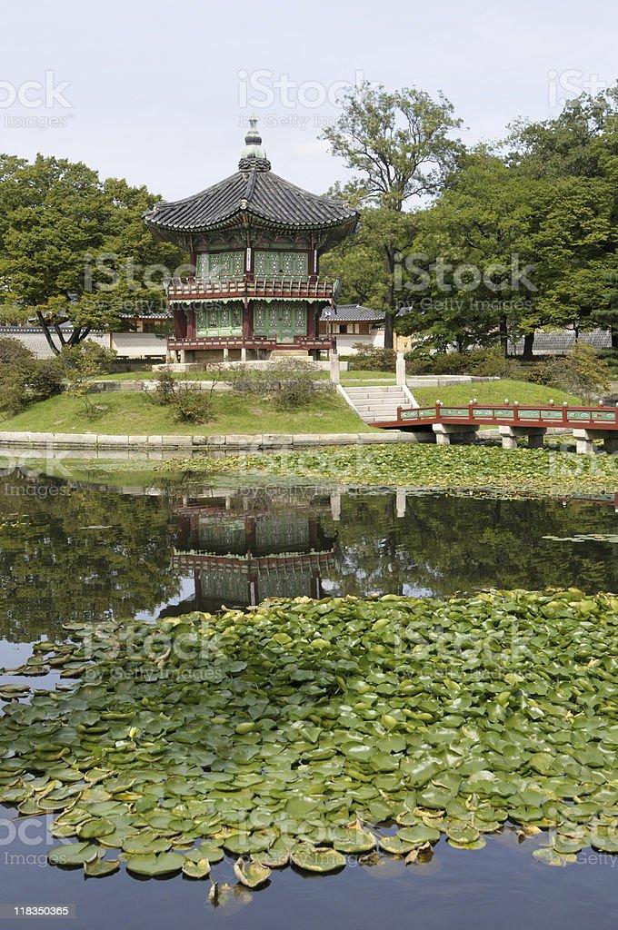 Gyeongbok Palace pagoda royalty-free stock photo