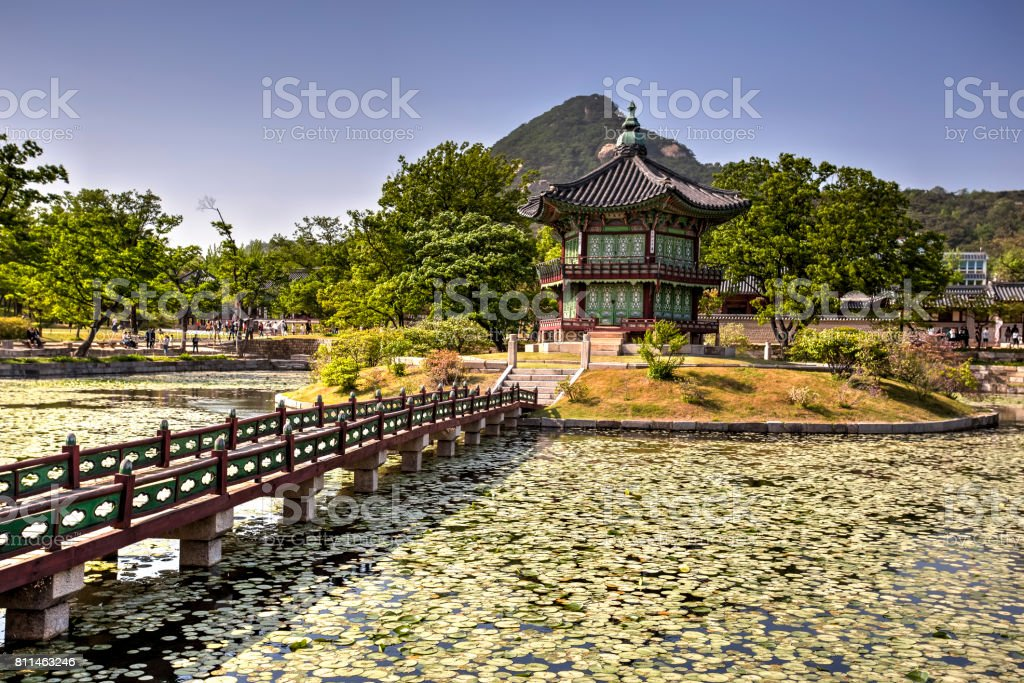 Gyeongbok Palace, Seoul, South Korea stock photo