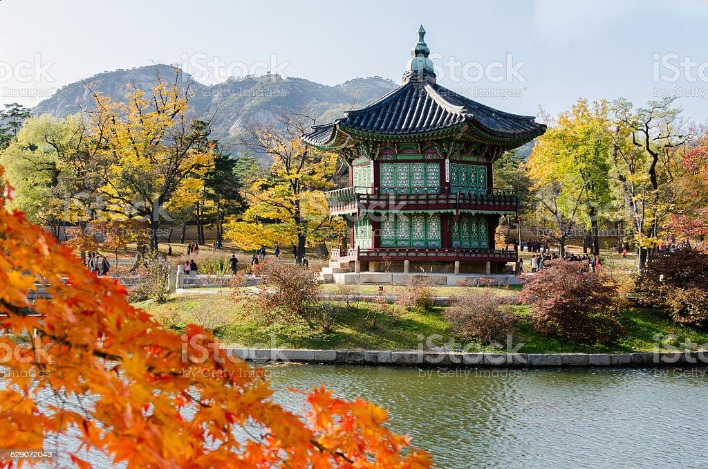 Gyeongbokgung Palace in Seoul ,Korea stock photo