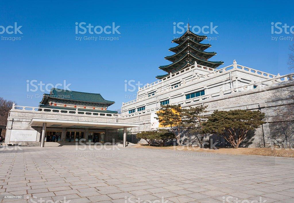 Gyeongbokgung Palace in Seoul, South Korea stock photo