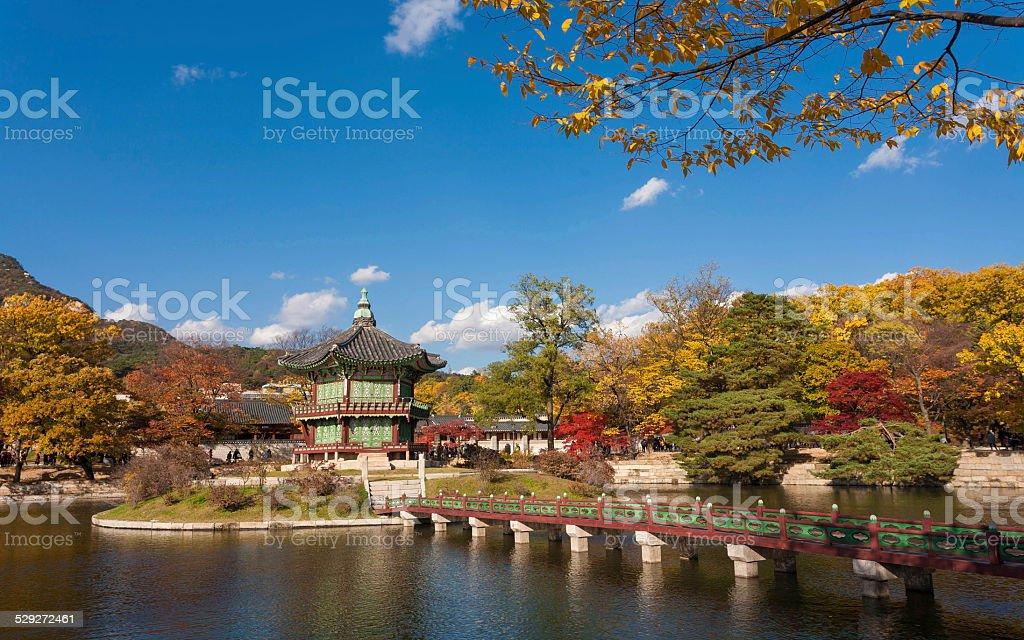 Gyeongbokgung Palace in the Autumn stock photo