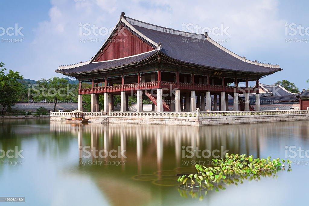 Gyeongbokgung Palace, Seoul, South Korea. stock photo